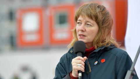 Malin Björk, EU-parlamentariker för Vänsterpartiet. Bild: Henrik Montgomery/TT