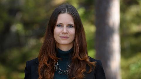 Rebecka Le Moine är den rätta kandidaten för rollen som språkrör för Miljö- partiet, menar debattören.   Bild: Henrik Montgomery/TT