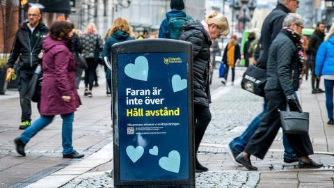 Uppsala var först i landet med att införa lokala restriktioner i början av förra veckan.  Bild: Claudio Bresciani/TT