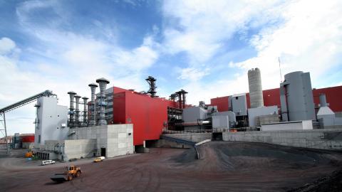 KK4 – ett av pelletsverken i Kiruna, som förädlar krossad järnmalm till järnmalmspellets.  Bild: Anders Lindberg