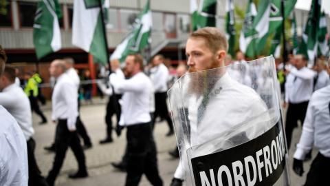"""""""Trots att antalet polisanmälda hatbrott ökat är det få som leder till fällande dom. Det är inte acceptabelt"""", skriver Aida Badeli, språkrör Grön Ungdom Bild: Björn Larsson Rosvall/TT"""