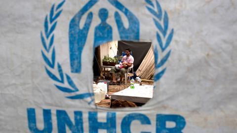 Den insats som FN:s flyktingorgan UNHCR står för är ett viktig arbete. Det går dock inte att stirra sig blind på organisationens syfte. Man får inte förväxla förhoppning med utfall, skriver debattören.  Bild: Petros Giannakouris/TT
