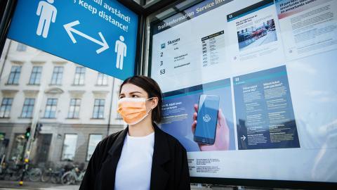Sverige är enda landet i Europa som inte har rekommendationer om munskydd. Bild: Erik Simander/TT