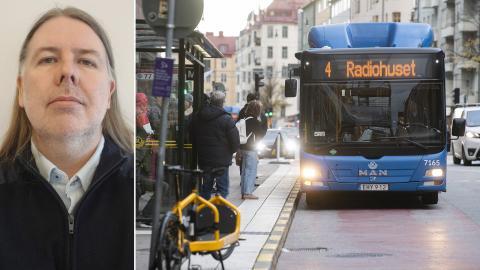 Stephan Gard är busschaufför i Stockholm. Bild: Privat / Fredrik Sandberg/TT
