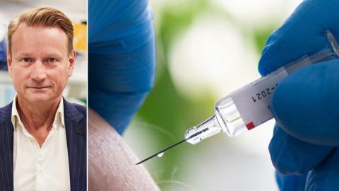 Matti Sällberg, Karolinska institutet, tycker att veckans vaccinbesked från Pfizer är bra och glädjande. Bild: Erik Flyg/Press, Fredrik Sandberg/TT