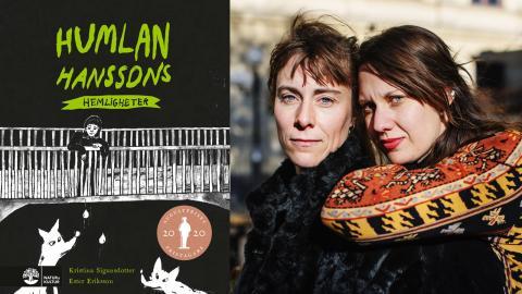 Författaren Kristina Sigunsdotter (till vänster)  och illustratören Ester Eriksson (till höger). Bild: Natur & kultur