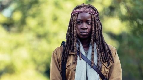 """Michonne i tv-serien """"The walking dead""""."""