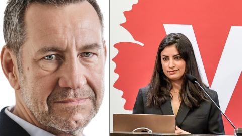 Ekonomen Sandro Scocco tar klivet till Nooshi Dadgostars Vänsterpartiet. Bild: Press/Atlas Förlag, Janerik Henriksson/TT