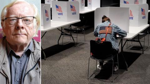USA:s valsystem är avsett att hålla folket så långt borta från de valda som möjligt, skriver Göran Therborn. Bild: Charlie Riedel/AP