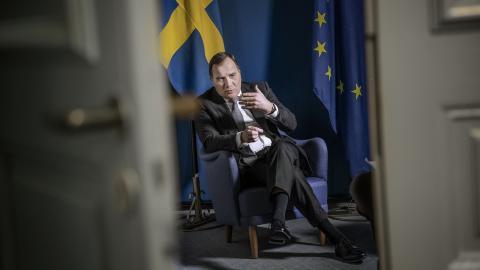Statsminister Stefan Löfven (S). Bild: Malin Hoelstad/SvD/TT