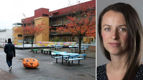 Sonia Koppen, Vision, är en av de som oroas av underskott för socialtjänsten i stadsdelar som Bergsjön och Angered. Bild: Hanna Strömbom, Vision