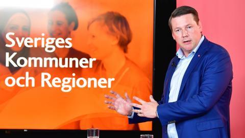 Tobias Baudin, ordförande för Kommunal.  Bild: Jonas Ekströmer/TT