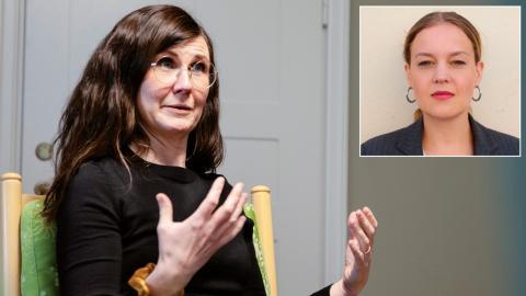 """""""Vi hoppas att Märta Stenevi (MP) tar tag i frågan om jämställda löner och arbetsvillkor. Hur ska vi annars möta kommunernas utmaningar och säkra den svenska välfärden?"""", undrar Lisa Palm (Fi). Bild: David Johansson / Press"""