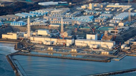 Den 11 mars är det på dagen tio år sedan en jordbävning till havs och en efterföljande tsunami ledde till den förödande kärnkraftsolyckan i japanska Fukushima. Bild: AP/TT/Hironori Asakawa