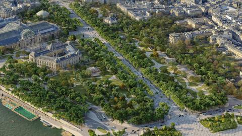 Framtidens Champs-Elysées ska ge känslan av en urban skog, menar arkitekten Philippe Chiambaretta Bild: Press