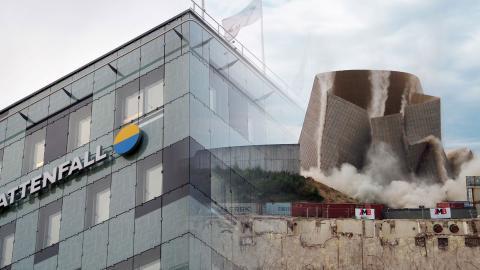 Sverige är ett av få länder som vill att företag ska kunna stämma EU-stater för beslut de anser skadar deras ekonomiska intressen. På bilden: demoleringen av kärnkraftverket Muelheim-Kaelich. Bild: Thomas Frey/AP, Jessica Gow/TT