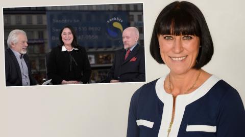 I fredags gästade moderatpolitikern Michaela Fletcher den högerextrema plattformen Swebb-tv. Bild: Skärmdump Swebb-tv / Press