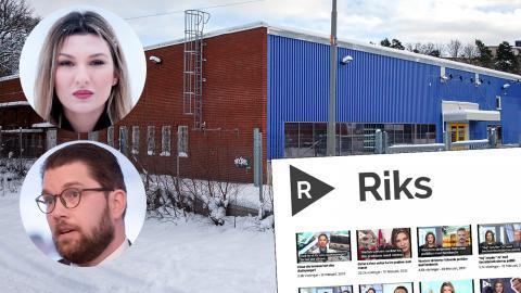 Här har Sverigedemokraterna sedan november producerat innehåll för egna Youtubekanalen Riks. Bild: David Johansson / TT / Skärmdump
