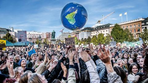 Engagemang inom miljörörelsen hjälper många att hantera sin klimatångest, enligt klimatpsykologen Frida Hylander.  Bild: Tomas Oneborg/SvD/TT