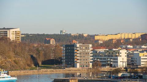 Bild över Sannegården och Biskopsgården i Göteborg. Biskopsgården har främst blivit känt som ett område härjat av gängkriminalitet. Genom ett skrivprojekt vill nu flera unga uppmärksamma områdets positiva sidor. Bild: Shutterstock
