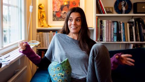 Lisa Halldén är glad över att ha kunnat börja jobba igen även om framstegen är små och det tar på krafterna. Bild: Zanna Nordqvist