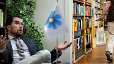 På det nationella planet har SD bland annat argumenterat för att ändra bibliotekslagen. Bild: Janerik Henriksson/TT, Christine Olsson/TT