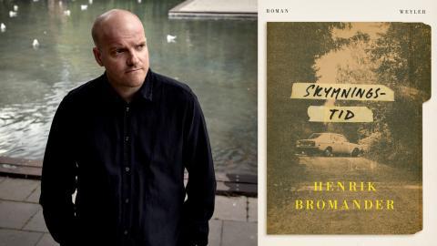 """Henrik Bromander är aktuell med """"Skymningstid"""", en roman om  hemliga terrorceller i Sverige under 1970-talet.  Bild: Emil Malmborg/weyler förlag"""