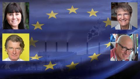 """""""Det räcker inte att enbart skärpa klimatlagarna för att EU ska nå de nya klimatmålen"""", menar debattörerna. Shutterstock, Press, Privat."""