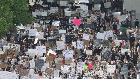 Demonstration i Tennessee. Bild: TT/AP