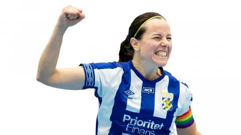 Förra året vann Frida Lundblads IFK Göteborg mot Gais i SM-finalen efter förlängning. Årets final blir slutet på 39-åriga Lundblads karriär.  Bild: Michael Erichsen/Bildbyrån