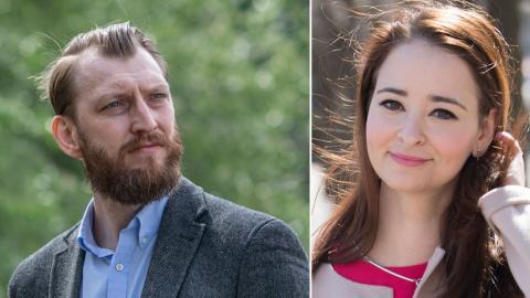 Ivar Arpi och Alice Teodorescu hör till de profiler som lämnar tidningsprojektet Bulletin. Bild: TT/SVD/Staffan Löwstedt, Fredrik Sandberg/TT