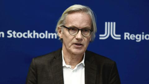 Johan Bratt, tillförordnad hälso- och sjukvårdsdirektör i Region Stockholm. Bild: Carl-Olof Zimmerman/TT