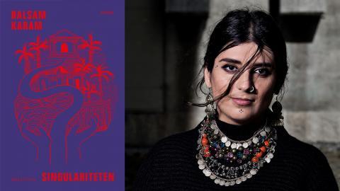 """Balsam Karam skriver om saknaden efter förlorade barn i romanen """"Singulariteten"""".  Bild: Magnus Liam Karlsson/Norstedts"""