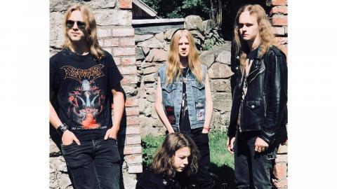 Gossar med glid: Emil Eriksson, Mateo Tervonen, Jesper Rosén och Felix Lindkvist är Sarcator.