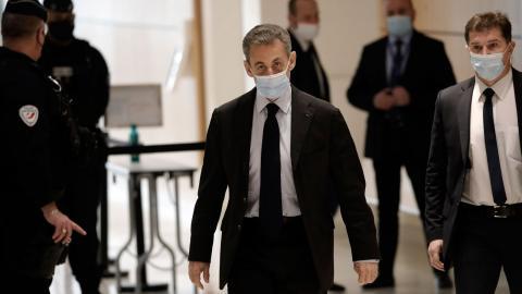 Nicolas Sarkozy i rättssalen i november. Bild: TT/AP/Christophe Ena