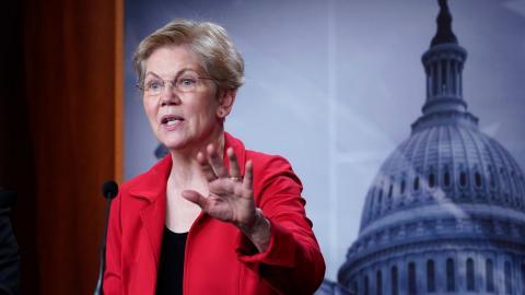Elizabeth Warren vill jämna ut klassklyftorna med hjälp av en ny förmögenhetsskatt.  Bild: Susan Walsh/AP/TT