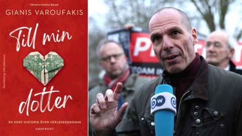 """I """"Till min dotter"""" vill Gianis Varoufakis, Greklands finansminister januari–juli 2015, beväpna en yngre generation med grundläggande nationalekonomiska begrepp. Bild: Yui Mok/AP/TT"""