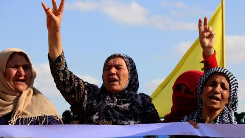 De kurdiska kvinnorna har blivit allt mer synliga i det vanliga samhället, till följd av jämställdhetspolitiken. Foto: STR