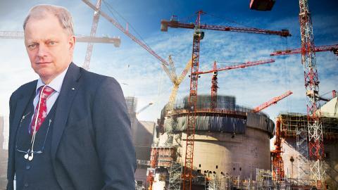 Kärnkraftsbygge i Finland. Bild: Robert Henriksson/SvD/TT