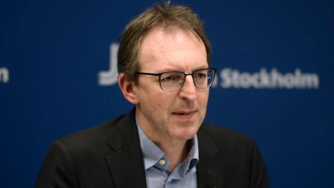 Magnus Thyberg, vaccinsamordnare i region Stockholm. Bild: Carl-Olof Zimmerman/TT