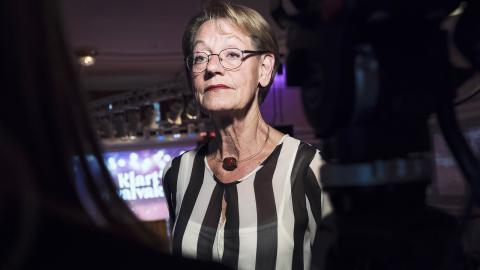 Gudrun Schyman startade debatten i Dagens ETC om att Fi ska öppna sina listor och ställa upp i riksdagsvalet som ett klimatinitiativ.  Stina Stjernkvist/TT