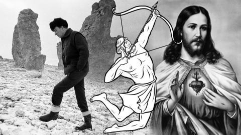 I den sista delen om Herakles bragder skriver Theodor Kallifatides om hjältens  likheter till Ingmar Bergman och Jesus. Bild: Shutterstock & Leif Engberg/Bergmancenter