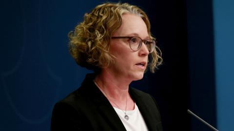 Britta Björkholm, avdelningschef, Folkhälsomyndigheten Bild: TT/Fredrik Persson