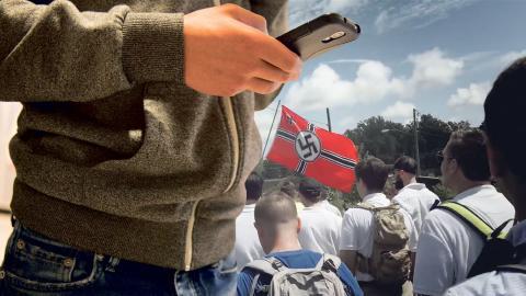 Via sociala medier värvas tonåringar till högerextrema grupper.  Bild: Erik Nylander/TT, Hope not hate