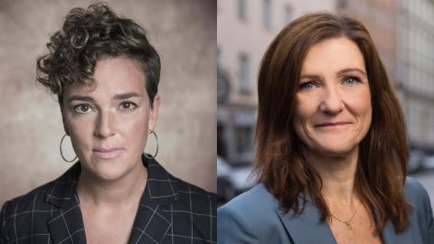 Linn Moser Hällen och Rebecca Lagh. Press