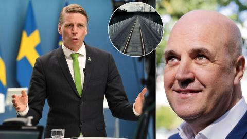 MP-ministern Per Bolund passade på att ge Fredrik Reinfeldts regering en känga för arbetet med infrastruktur. Bild: TT