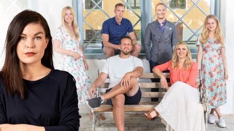 """Susanna, Anton, Lars, Sofia, Johan och Elinor – årets deltagare i """"Gift vid första ögonkastet"""". Bild: Ulrika Malm/SVT"""
