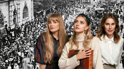 Sufragetter i London. Nidbilden om kvinnogemenskaper tilltog i styrka när kvinnor började organisera sig för    rättigheter, under rösträttsrörelsen.   Bild: Mary Evans/IBL