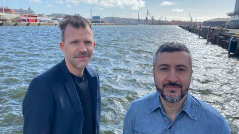 David Björneloo och Ali Tabrizi. Bild: Press