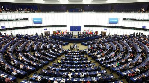EU-parlamentet i Strasbourg.  Bild: Fredrik Persson/TT